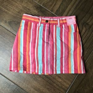 Gymboree striped skirt with built in shorts